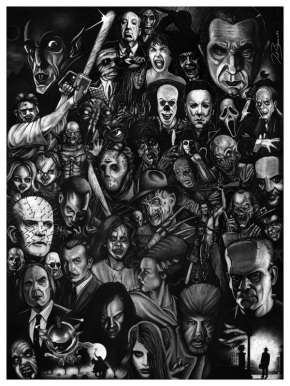 Awesome Horror Collection Print Available