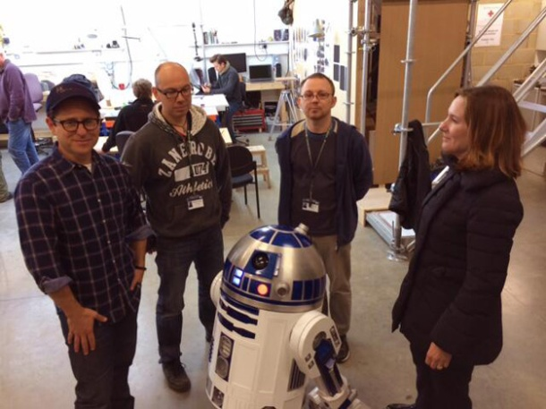 Towersey and Steeples with J.J. Abrams, Kathleen Kennedy and R2-D2