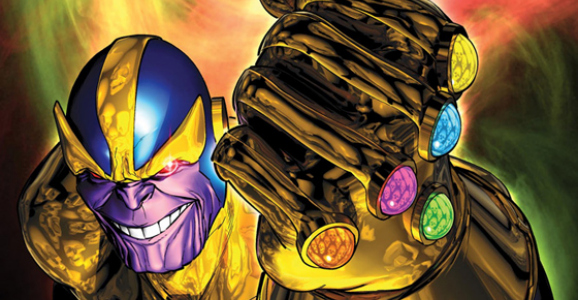 Thanos rocking the Infinity Gauntlet