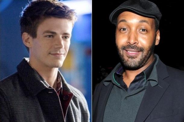 Jesse L. Martin (R) will join Grant Gustin (L) in The Flash)