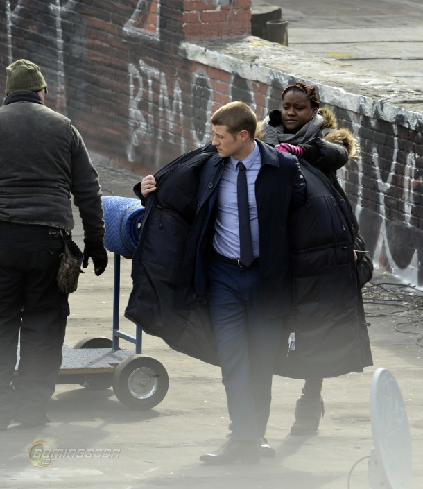 Ben Mckenzie on the set of Gotham